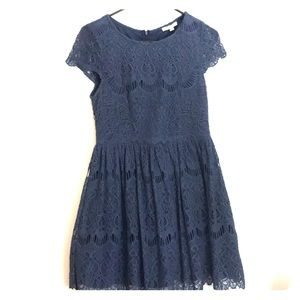 Blue lace dress from Francesca's Miami.